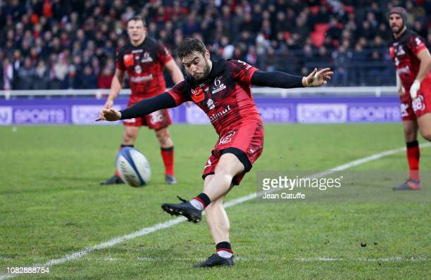 Alexis Palisson of LOU Rugby during the Champions Cup match between Lyon Olympique Universitaire and Saracens at Matmut Stadium on January 13 2019 in...