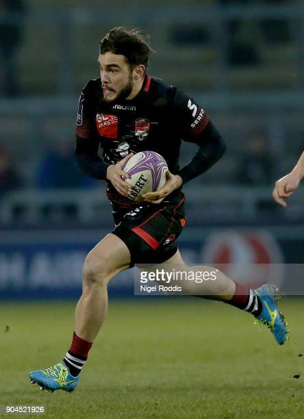 Alexis Palisson of Lyon during the European Rugby Challenge Cup match between Sale Sharks and Lyon at the AJB Stadium on January 13 2018 in Salford...