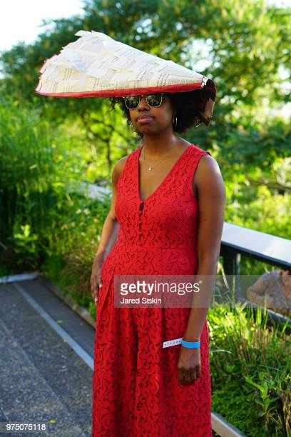 Alexis Paterson attends the 2018 High Line Hat Party at the The High Line on June 14 2018 in New York City