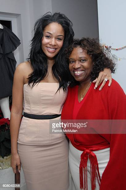 Alexis Phifer and Donna West attend Stella McCartney's Store Christmas Lighting Hosted By Kanye West at Beverly Hills on December 5 2006