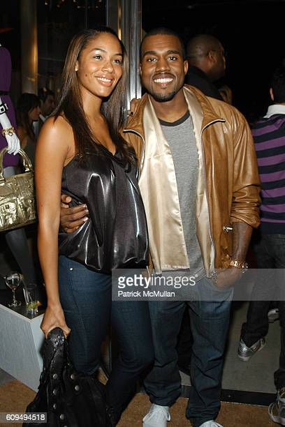 Alexis Phifer and Kanye West attend Intermix Los Angeles Store Debut at Intermix on September 25 2007 in Beverly Hills CA