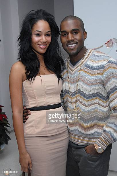 Alexis Phifer and Kanye West attend Stella McCartney's Store Christmas Lighting Hosted By Kanye West at Beverly Hills on December 5 2006