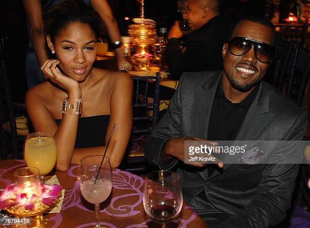 LOS ANGELES CA SEPTEMBER 16 Alexis Phifer and rapper Kanye West attend HBO after party for the 59th Primetime Emmy Awards at The Pacific Design...