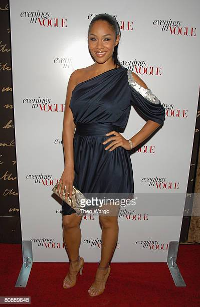 Alexis Phifer arrives at the Evenings in Vogue Party at 1 Oak NYC on April 17 2008