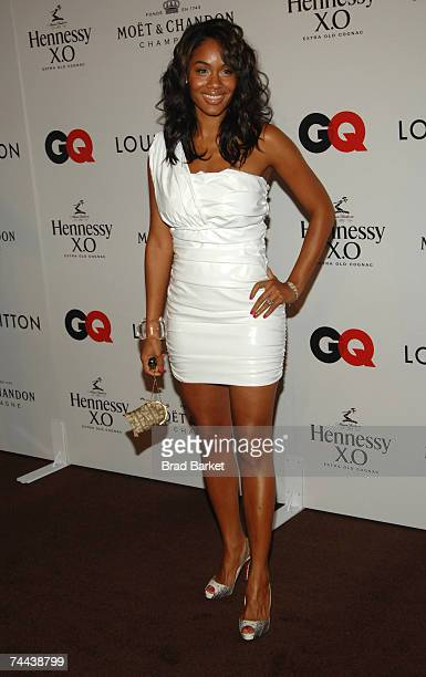 Alexis Phifer attends Kanye West's 30th birthday celebration at Louis Vuitton on June 07 2007 in New York City