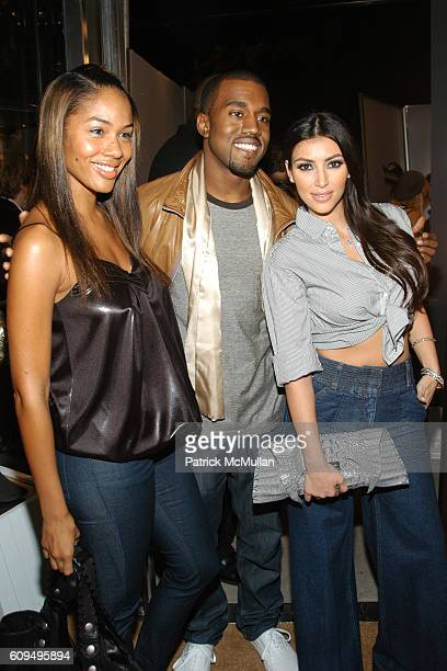 Alexis Phifer Kanye West and Kim Kardashian attend Intermix Los Angeles Store Debut at Intermix on September 25 2007 in Beverly Hills CA