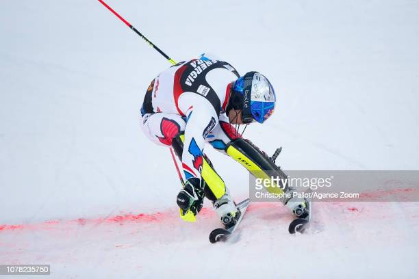 Alexis Pinturault of France competes during the Audi FIS Alpine Ski World Cup Men's Slalom on January 6 2019 in Zagreb Croatia