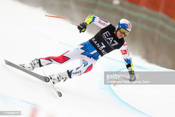 Alexis Pinturault of France competes during the Audi FIS Alpine Ski World Cup Men's Alpine Combined on February 22 2019 in Bansko Bulgaria