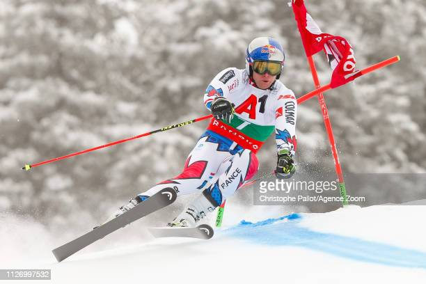 Alexis Pinturault of France competes during the Audi FIS Alpine Ski World Cup Men's Giant Slalom on February 24 2019 in Bansko Bulgaria