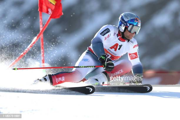 Alexis Pinturault of France competes during the Audi FIS Alpine Ski World Cup Men's Giant Slalom at Rettenbachferner on October 27 2019 in Soelden...