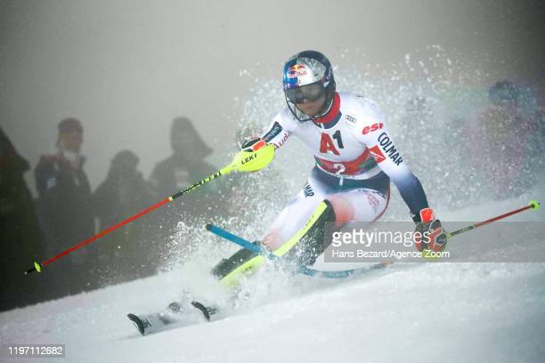 Alexis Pinturault of France competes during the Audi FIS Alpine Ski World Cup Men's Slalom on January 28, 2020 in Schladming Austria.