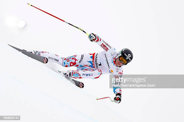 Alexis Pinturault of France competes during the Audi FIS Alpine Ski World Championships Men's SuperG on February 06 2013 in Schladming Austria