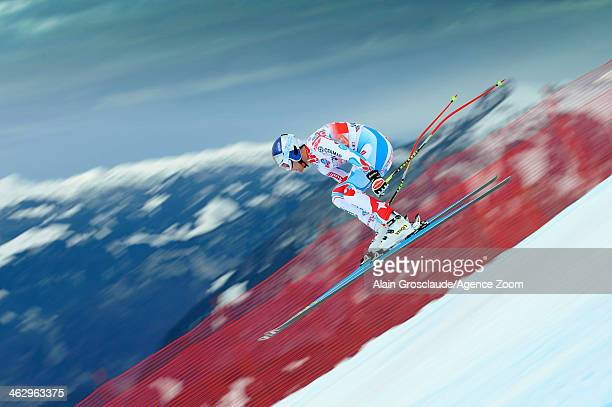 Alexis Pinturault of France competes during the Audi FIS Alpine Ski World Cup Men's Downhill Training on January 16 2014 in Wengen Switzerland