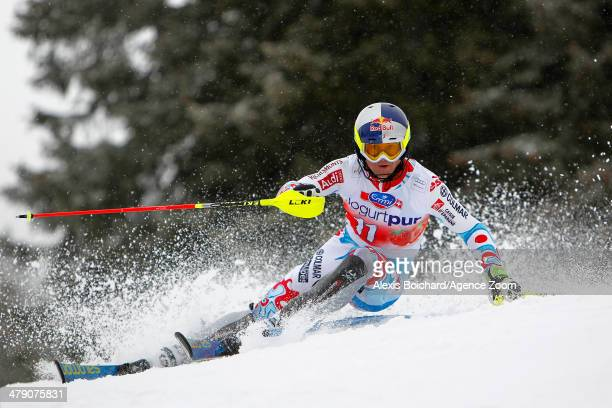 Alexis Pinturault of France competes during the Audi FIS Alpine Ski World Cup Finals Men's Slalom on March 16, 2014 in Lenzerheide, Switzerland.