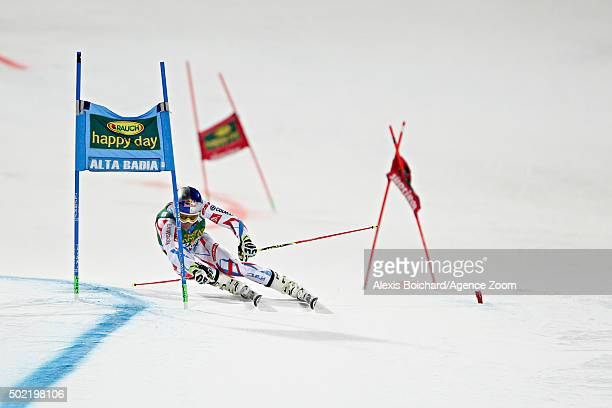 Alexis Pinturault of France competes during the Audi FIS Alpine Ski World Cup Men's Parallel Giant Slalom on December 21 2015 in Alta Badia Italy
