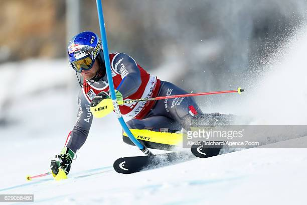 Alexis Pinturault of France competes during the Audi FIS Alpine Ski World Cup Men's Slalom on December 11 2016 in Vald'Isere France