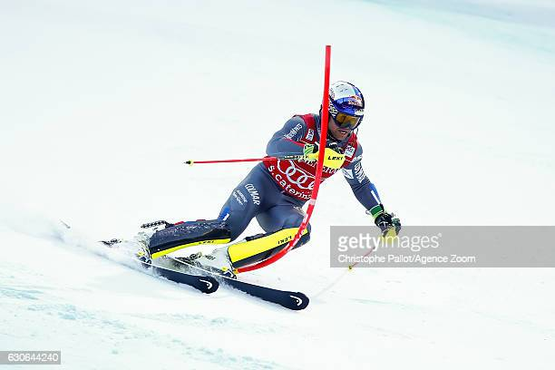 Alexis Pinturault of France competes during the Audi FIS Alpine Ski World Cup Men's Combined on December 29 2016 in Santa Caterina Italy