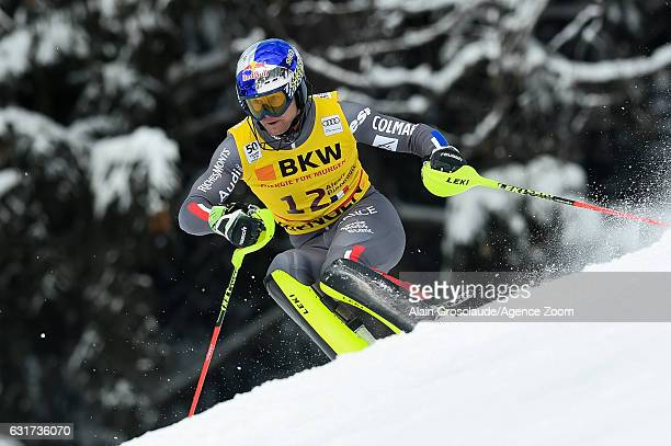 Alexis Pinturault of France competes during the Audi FIS Alpine Ski World Cup Men's Slalom on January 15 2017 in Wengen Switzerland