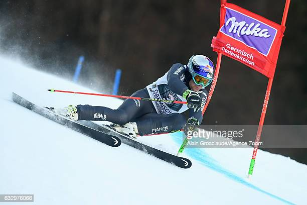 Alexis Pinturault of France competes during the Audi FIS Alpine Ski World Cup Men's Giant Slalom on January 29 2017 in GarmischPartenkirchen Germany