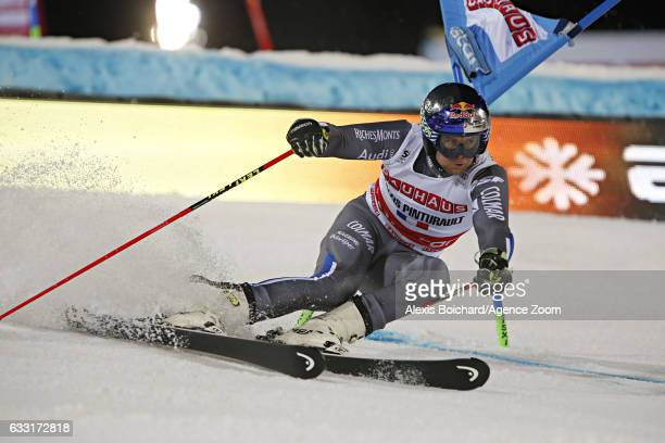 Alexis Pinturault of France competes during the Audi FIS Alpine Ski World Cup Men's and Women's Parallel Slalom City Event on January 31 2017 in...