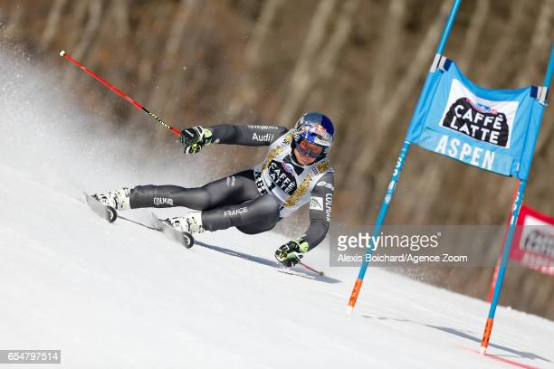 Alexis Pinturault of France competes during the Audi FIS Alpine Ski World Cup Finals Women's Slalom and Men's Giant Slalom on March 18 2017 in Aspen...