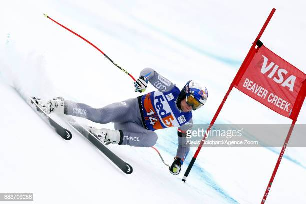 Alexis Pinturault of France competes during the Audi FIS Alpine Ski World Cup Men's Super G on December 1 2017 in Beaver Creek Colorado