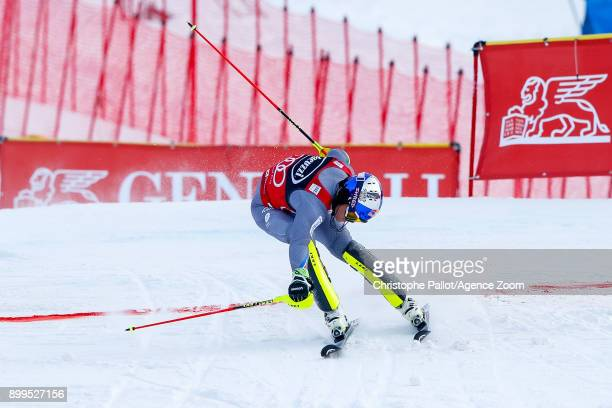 Alexis Pinturault of France competes during the Audi FIS Alpine Ski World Cup Men's Combined on December 29, 2017 in Bormio, Italy.