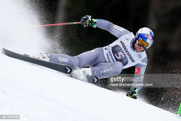 Alexis Pinturault of France competes during the Audi FIS Alpine Ski World Cup Men's Giant Slalom on January 28 2018 in GarmischPartenkirchen Germany