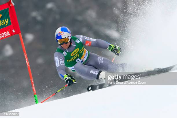 Alexis Pinturault of France competes during the Audi FIS Alpine Ski World Cup Men's Giant Slalom on March 3 2018 in Kranjska Gora Slovenia
