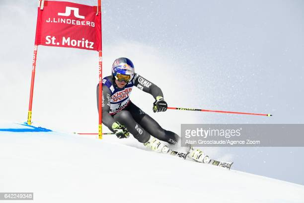 Alexis Pinturault of France competes during the FIS Alpine Ski World Championships Men's Giant Slalom on February 17 2017 in St Moritz Switzerland