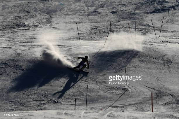 Alexis Pinturault of France competes during the Men's Slalom on day 13 of the PyeongChang 2018 Winter Olympic Games at Yongpyong Alpine Centre on...