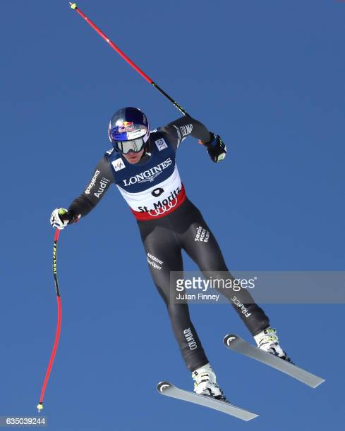 Alexis Pinturault of France competes in the Men's Combined Downhill during the FIS Alpine World Ski Championships on February 13 2017 in St Moritz...