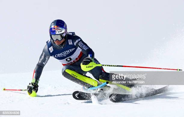 Alexis Pinturault of France competes in the Men's Combined Slalom during the FIS Alpine World Ski Championships on February 13 2017 in St Moritz...