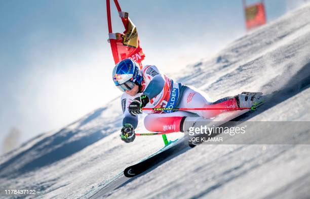Alexis Pinturault of France competes in the men's Giant Slalom event of the FIS ski alpine world cup opening in Soelden, Austria, on October 27, 2019.