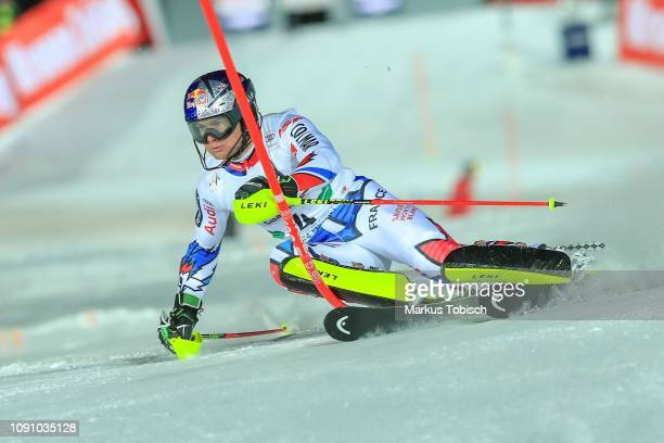 Alexis Pinturault of France during the Audi FIS Alpine Ski World Cup Men´s Slalom at Planai Race Hill on January 29, 2019 in Schladming, Austria.