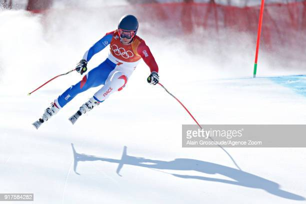 Alexis Pinturault of France in action during the Alpine Skiing Men's Combined at Jeongseon Alpine Centre on February 13 2018 in Pyeongchanggun South...