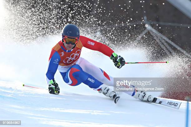 Alexis Pinturault of France in action during the Alpine Skiing Men's Giant Slalom at Yongpyong Alpine Centre on February 18 2018 in Pyeongchanggun...