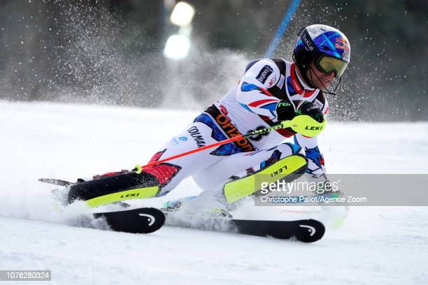 Alexis Pinturault of France in action during the Audi FIS Alpine Ski World Cup Men's Slalom on January 6 2019 in Zagreb Croatia