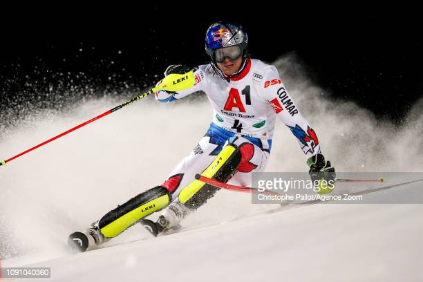 Alexis Pinturault of France in action during the Audi FIS Alpine Ski World Cup Men's Slalom on January 29 2019 in Schladming Austria