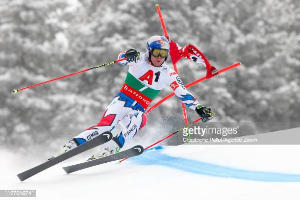 Alexis Pinturault of France in action during the Audi FIS Alpine Ski World Cup Men's Giant Slalom on February 24 2019 in Bansko Bulgaria