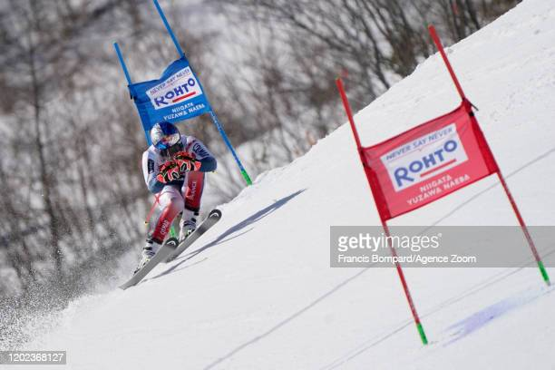 Alexis Pinturault of France in action during the Audi FIS Alpine Ski World Cup Men's Giant Slalom on February 22 2020 in Yuzawa Naeba Japan