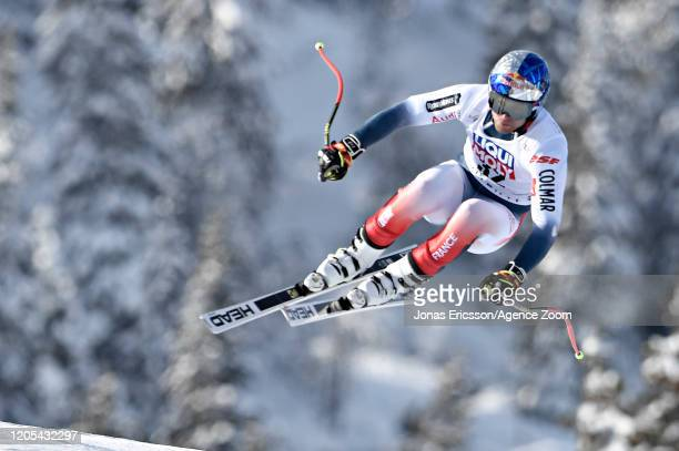Alexis Pinturault of France in action during the Audi FIS Alpine Ski World Cup Men's Downhill Training on March 6, 2020 in Kvitjell Norway.