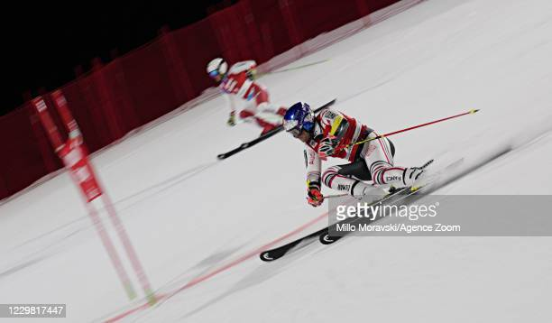 Alexis Pinturault of France in action during the Audi FIS Alpine Ski World Cup Men's Parallel Giant Slalom on November 27, 2020 in Lech Austria.