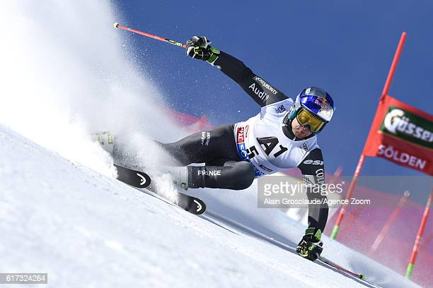 Alexis Pinturault of France in action during the Audi FIS Alpine Ski World Cup Men's Giant Slalom on October 23 2016 in Soelden Austria