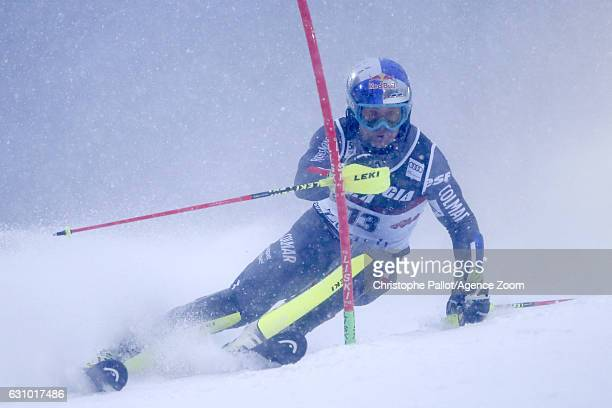 Alexis Pinturault of France in action during the Audi FIS Alpine Ski World Cup Men's Slalom on January 05 2017 in Zagreb Croatia