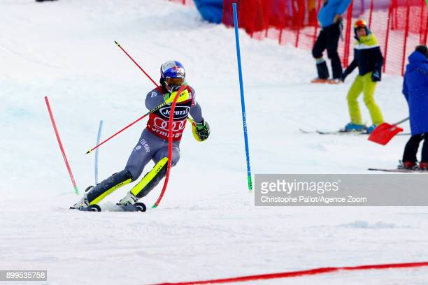 Alexis Pinturault of France in action during the Audi FIS Alpine Ski World Cup Men's Combined on December 29, 2017 in Bormio, Italy.