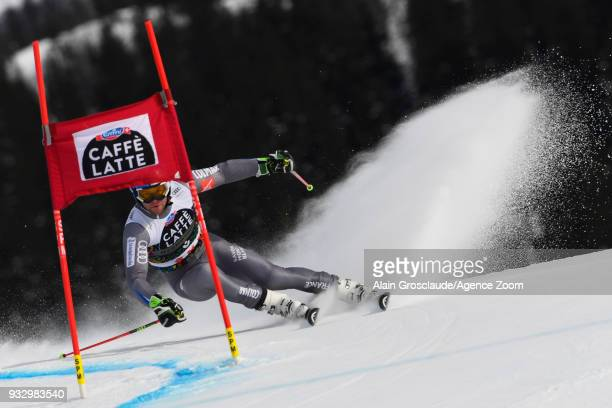 Alexis Pinturault of France in action during the Audi FIS Alpine Ski World Cup Finals Men's Giant Slalom on March 17 2018 in Are Sweden