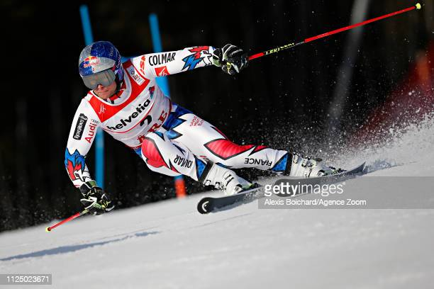 Alexis Pinturault of France in action during the FIS World Ski Championships Men's Giant Slalom on February 15 2019 in Are Sweden