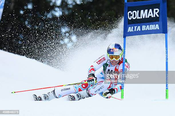 Alexis Pinturault of France races down the course whilst competing in the FIS Alpine World Cup giant Slalom race on December 22 2013 in Alta Badia...