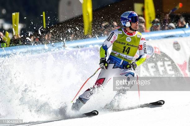 Alexis Pinturault of France Ski Team during Mens SuperG Audi FIS Ski World Cup race on March 14 2019 in El Tarter Andorra